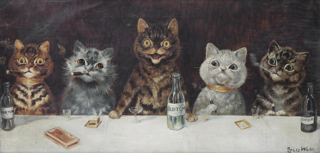 Louis Wain, The Bachelor Party (1939)