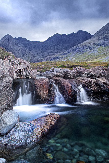 Fairy Pools and The Cuillins, Skye by Christopher Swan on Flickr.