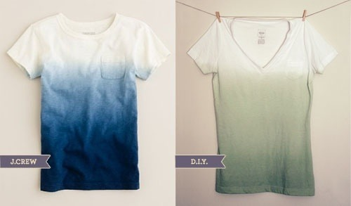 daisy-pickers:  DIY Ombre Shirt ♥ Found here! Click here for more DIY inspiration!