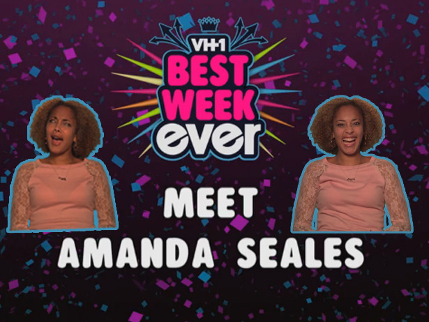 "Meet Your Best Week Ever Cast: Amanda Seales   Recognize Amanda Seales? Probably. The 31 year-old happens to fall under almost every creative category under the sun: Comedian, Actress, DJ, Artist, Radio Host and finally, one of Best Week Ever's newest cast members. Amanda's already been all over clip shows, so you might recognize her from the likes of TRL's Greatest Moments to The 100 Greatest One Hit Wonders of the 80s. You might also recognize her as ""Amanda Diva""–a former nickname under which she put out DJ sets and co-hosted MTV's Hip-Hop POV."