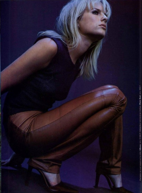 """Cuir Chic"", Jalouse France, November 1997Photographer : Herve HaddadModel : Tua Fock"
