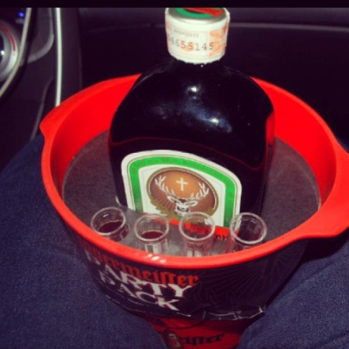 Wanna drink? Best pampainit. #jagermeister
