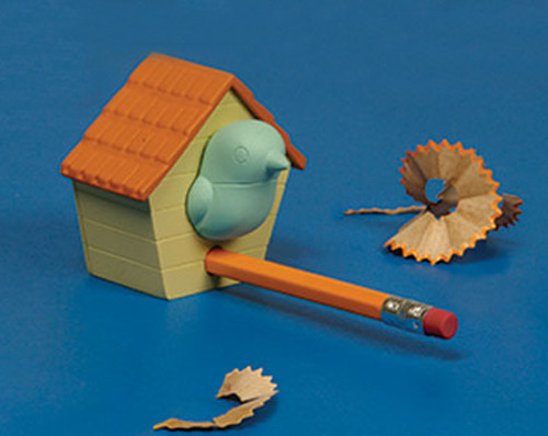 birdhouse pencil sharpener from Gamago