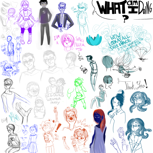 big ol' dump of doodles & warm-ups