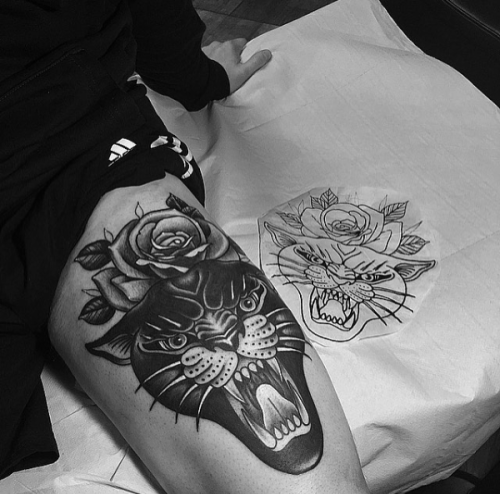 Panther And Rose Tattoo | Tumblr
