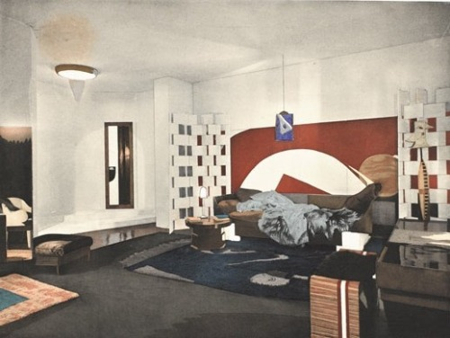 Eileen Gray Monte carlo bedroom. Via Post-patternism.