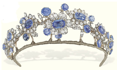 What would Sansa wear?A diamond and sapphire tiara
