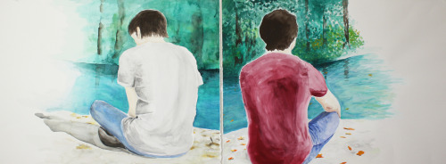 """The Meditators"" Watercolor 2011"