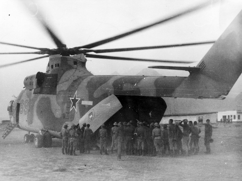 fuldagap:  Mil Mi-26 delivering a BTR-60 armored personel carrier to Soviet troops in Afghanistan.   B.