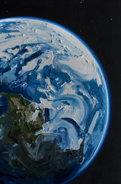gaksdesigns:  Earth by  Erik Olson.oil on canvas,