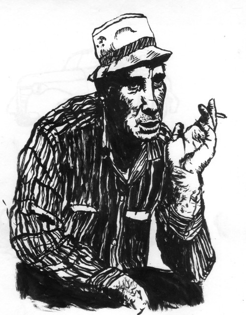 Sketch of Jack Karouac