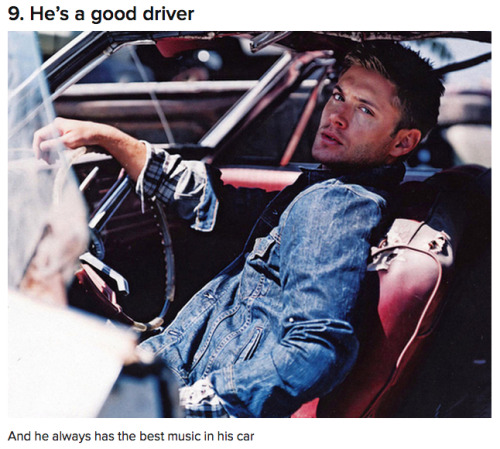 adulthoodisokay:  15 reasons Dean Winchester is the perfect man.