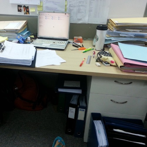 My workspace. It will decrease. I have faith in the universe. Haha. Maybe the universe will turn them into air tickets. Woo. Fucking cant wait for sydneyyyyy