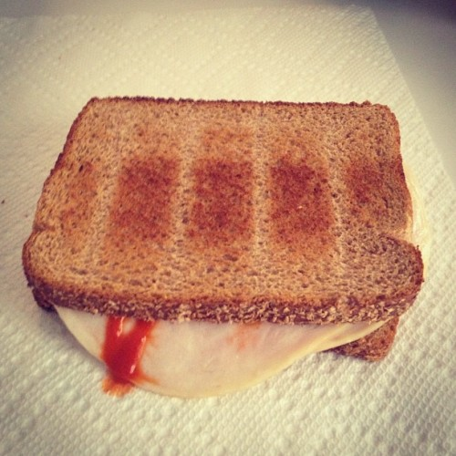 davidbluvband:  Another gross concoction! Roasted turkey with peanut butter, sriracha and cheddar. Give it a name! #namethisgarbage  Vietnam Bomb