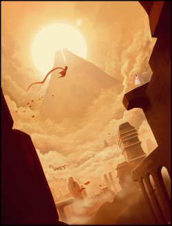 videogamenostalgia:  Journey - by Karbo A beautiful game like Journey deserves a beautiful fan art. Check out this one, created by Deviant artist Karbo (via: otlgaming)
