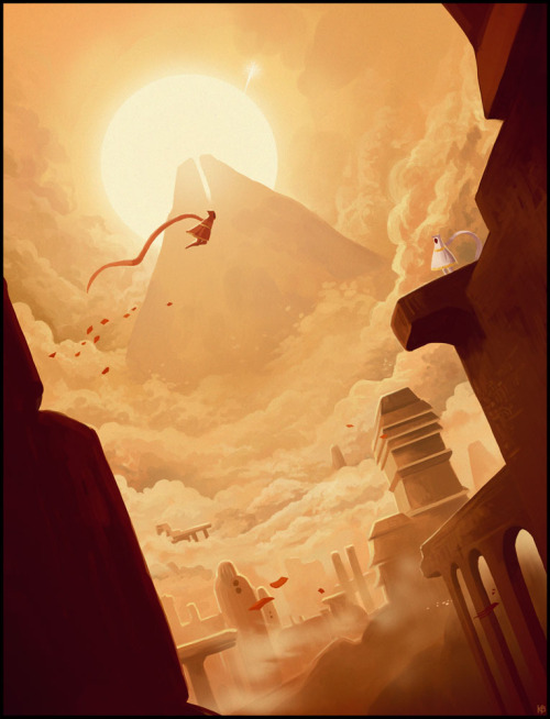 otlgaming:  Journey - by Karbo A beautiful game like Journey deserves a beautiful fan art. Check out this one, created by Deviant artist Karbo