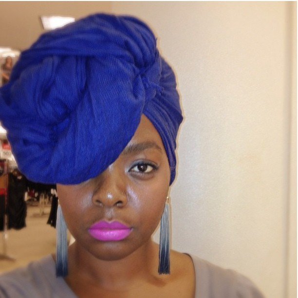 naturalhairdoescare:  Cobalt Turban. Beautiful. @bespokecurry #naturalhairdoescare #turbanatorthursday #turban #naturalhairstyles #nhdc2013