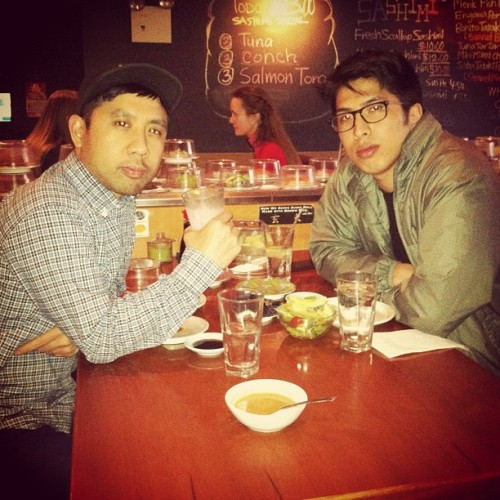 Me and @philchong on some ice cold Calpico R&R afterwork steez