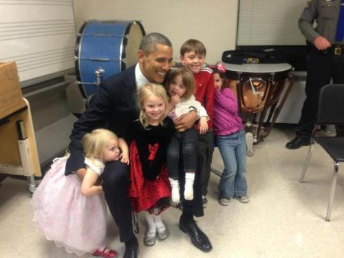 con-tem-plate:  President Obama in Newton, with the siblings of those that lost their lives. My President shows the depths of his compassion,his deep faith and insight. I pledge my support in any legislation to prevent tragedies like Newtown from happening again.