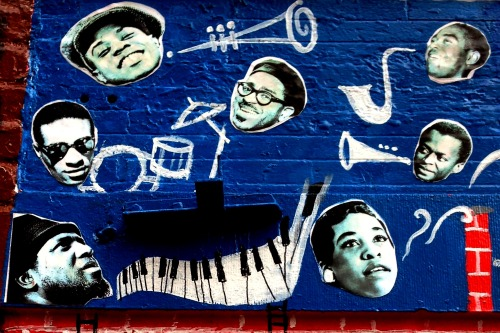 Recently discovered Jazz Mural in Central Harlem while touring with Big Apple Jazz.
