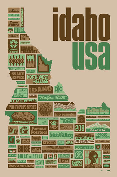 lloydwinter:  Look close at this marvelous poster by Draplin, 'cause you'll see my fucking name right down there by goddamn Built to Spill. Look north for Eric Hillerns. Fuck yeah Idaho.
