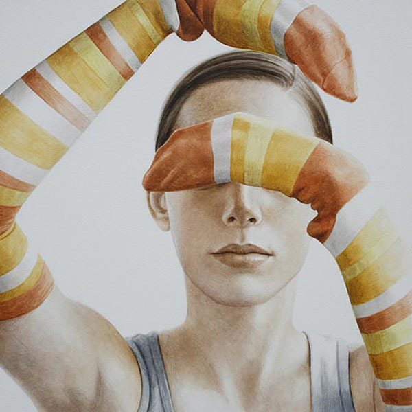 actegratuit:  Ali Cavanaugh, painted portraits with socks