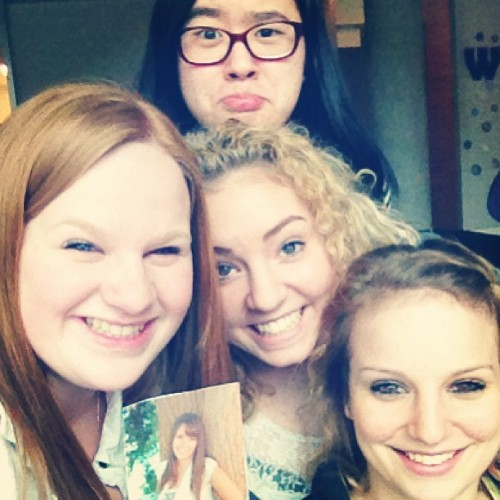 "countryheartcountryway:  these girls right here are my best friends. in high school, we were inseperatable. There was never a time in the halls or in class or outside of school that we were not together, and if we weren't, we were constantly communicating somehow. we go by the name of BBLCK, which we got the idea by the sound ""blehhhhck"". everyone criticized us, saying that it's stupid how much time we spent together and how we'd be amazed because in two years we won't even know each other anymore, because we'd be too caught up in our college lives and friends there. we had so many people hate us for no reason, although looking back on it we now know the reason is because they were jealous of how close the five of us were (most of them admitted this to us;)) this past year a few of us left for college, me being the farthest away. all my other friends were saying how nervous they were leaving their home friends and lives because they didn't want to lose the things they cared about so much back home. i was the only person who wasn't worried about these things. the reason was because i knew that those who were my real friends would stick with me, and those who weren't, were not meant to be in my life for the long haul. i wasn't even worried about losing these four because i knew in my heart that they would always be with me, no matter what happened to all of us. I was right. We began with me and the Ginger child on the left. The two of us met in third grade, on the playground at recess. Our teachers were best friends, so we were always in each others class and doing things with each others class. I remember the first time I ever saw her. We were lining up in our class lines at recess and these kids in front of me were talking about the new girl with orange hair over there. They pointed and low and behold, I saw my best friend for the first time. My memory is so creepy I even remember both of our outfits. I remember thinking that I wanted to become friends with her, and I thought she was hilarious and also really hyper, which was perfect cause I was too. Throughout the years we've always been close. She was even by my side in fifth and sixth grade when I was isolated by all of the other kids. How she's put up with me for this long, I have no idea, but I am so unbelievably thankful that she has. I don't think that there is a single thing that she doesn't know about me, or hasn't been there for me for. The two of us were psychos together throughout our youth and without her I would have had no one. She's stood up for me at times when no one else has, and her friendship has no equal. There were nights growing up where we'd just call each other on the phone and do nothing but cry, and many more times were we'd do nothing but laugh about something for fifteen minutes straight. She's always accepted me for the insane individual that I am, and that alone says a lot. From there, the two of us headed Into middle school, where we met the blonde roman head in the middle. We all had the same science teacher and became super good friends with her, because she was super young. We discovered that like ourselves, she was super insane and quirky and hyper. We would also blast country music through the halls with our own voices and while everyone else made fun of us, she sang along. Our friendship began there. In those years, our double duo became a trio. Roman head never ever failed to make the two of us die of laughter in any situation. We watched each other fall in love for the first time and when we were upset, she would turn the mood around in an instant. I cannot even count the amount of times someone would make fun of us and she'd defend us without even thinking, or the amount of times I'd be on a downward spiral and shed take the reigns and instantly make me feel better. She was like a human guardian angel for the three of us, and the missing piece in our lives.  After middle school came the Asian, in the back. We began on weird terms, because we all thought she was the weirdest person alive, and she thought the same. So we spent all of first year hating each other. Then sophomore year started and the Ginger and Roman head befriended her. Through their friendship we got to know each other and we discovered that we were actually the two coolest people on the planet. She quickly became the fourth part to our pack. Her quick-witted comments and hilarious additions to our conversations made any day better in an instant, and could make us all pee our pants at the most random times. When our lives sucked, she proved to be a strong fourth addition to vent to and someone who would just listen, no matter what. And her advice would always make you feel better because it not only made sense but it was hilarious. The four of us now joined at the hip would go on random adventures and create millions of random games and go psycho over birthdays and holidays and everything else. We all came to know each others favorite singers like a sibling and became obsessed ourselves.  And then, The Newbie on the right came along. She had been in the background this whole time, but came to our attention at the end of high school. She had been the closest thing to what Ginger had to a sister her whole life, and because of that I came to know her my whole life too. Somehow, she got sucked in to the craziness of the four of us and fit right in like the fifth wheel we always somehow knew we were missing. Her positive outlook on life and love for everything around her, and her insanity and hyperness matched all of our own and with her, we became one.  And then there's me. The Shit Show in the printed off picture. The one with the life that could be a famous soap opera. The one who without these four would probably be lying in a ditch somewhere. But as you can see, they've got my back. They always have, and always will.  It has gotten to the point where we now know exactly what the other is thinking at every second, even if we're all not in the same room. It has gotten to the point where if one of us is dating someone, their boyfriend is also dating the other four of us. It has gotten to the point where we just walk into the others house unannounced at any time of the day and our parents are so used to having everyone around that we basically have specific couches, cups and favorite foods at all of our houses. These girls I can depend on with my life. They have been there for me through every single thing in my life, from the best night of my life to the worst. They have stuck by my side through everything, and even when they didn't agree with what i was doing they still stood by me. And of course they'd tell me, like the wonderful friends that they were, that I wasn't making a good choice and they disagreed, but that they'd still be with me no matter what. They have ran/driven/sped/fed/drank to my rescue at the first sign of trouble, dropped everything they were doing and never looked back. Not in a million years would I have guessed that I would have found friends like these. They are everything I have been, everything I am and everything I am going to be. This year just proves that no matter how far apart we are from each other well always find our way back. I know that we will always be friends, it's not even a question. Our sisterhood just proves that the people who say you find your closest friends in college are wrong. While I have found amazing, incredible people on campus at college, I know that these four girls will always be my best friends, closest friends and true friends. We could not live without each other. It's as simple as that.  People say that God places certain people in your life at a certain time for a reason and a purpose. I am a strong believer in that statement. I want everyone to know, that you will find your BBLCK at some point in your life. God has a BBLCK for everyone. Don't give up hope:) just keep looking for the love and friendship we'll always have with each other. It's out there for you too.  Shit Show, Newbie, Asian, Ginger and Roman Head. Nothing less than sisters, nothing more than soul mates. Best friends for eternity.  I literally have no words. I am speechless. I love you B. <3 So so so so SO much."