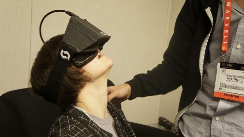 Simstimming towards God with the Oculus Rift Adi Robertson in The Verge Forums: One of the things you should probably realize about my CES experience is that in addition to being as sleep-deprived as anyone else there, I also spent the preceding week in an isolated farmhouse wired into IRC and occasionally going on long, meditative treks. It was during this time, particularly a lonely New Year's Eve, that I got religion. Or, more accurately, I built a religion.