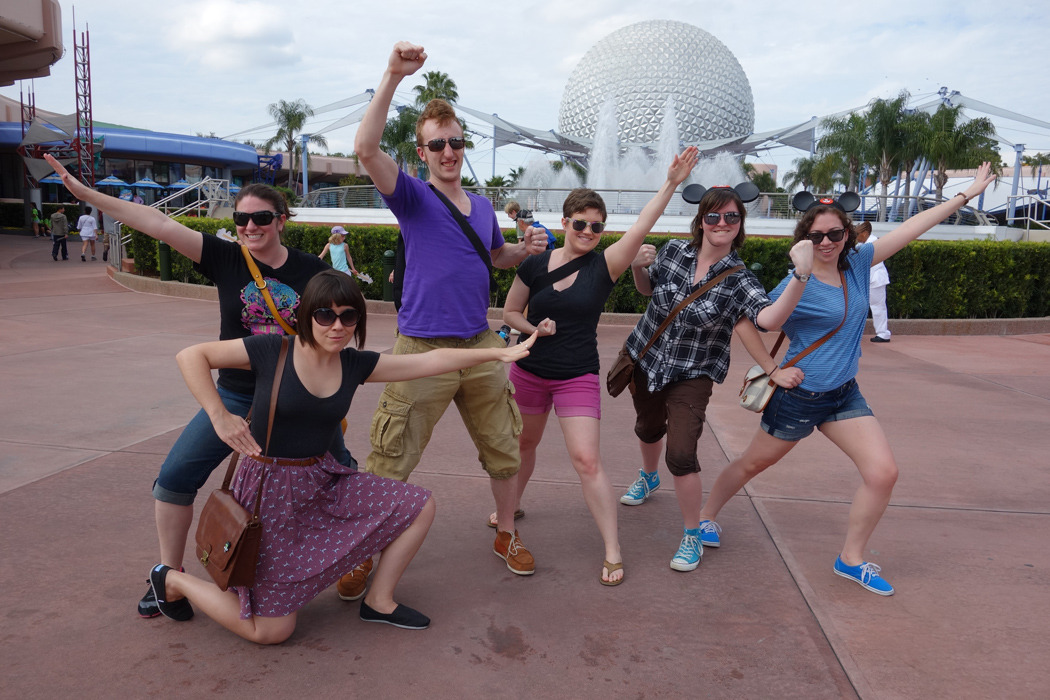 alexbutera:  not-quite-normal:  SENTAI EPCOT PHOTO AT DIDNEY WORL with Katy, Lindsay, Alex, Amelia, me, and Niki YAY  EPCOT GET!