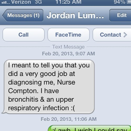 Made my day :) maybe ill be a good nurse after all.
