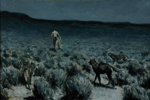 Remington: The Wolves Sniffed Along the Trail but Came No Nearer