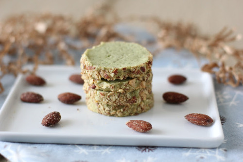 foodopia:  almond green tea cookies: recipe here