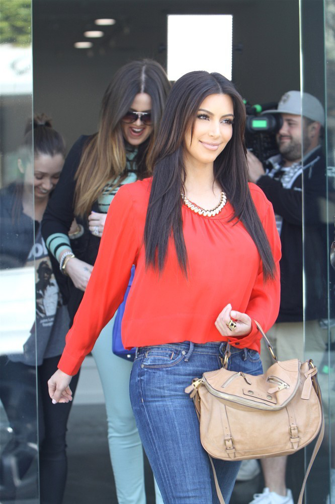 March 24, 2012: Kim and Khloe checking out a retail space in West Hollywood.
