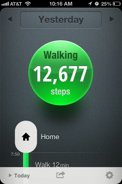 City living at its finest: 12,677 steps / 2 hours and 17 min spent walking / 6.5 miles. All in high heels. BOOM.