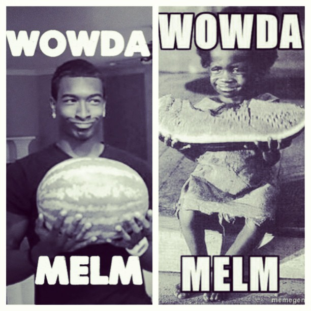 "Me and my lil bro loves us some ""WOWDA MELM"".. 😏🍉"