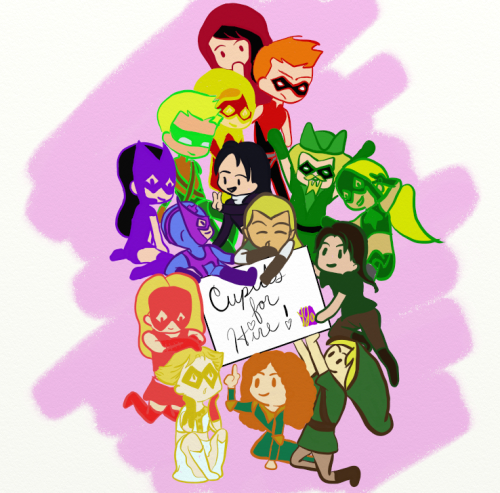 helenabertinellihuntress:  youngjusticeaddict:    2012: The Year of the Archers - Cupids For Hire by ~Youngjusticeaddict    Reblogging this because it's just too cute not to reblog.  And Helena's in it, so that's an added bonus.