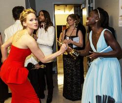 jennifer lawrence oscars Academy Awards jlawedit lupita nyong'o jennifer x lupita