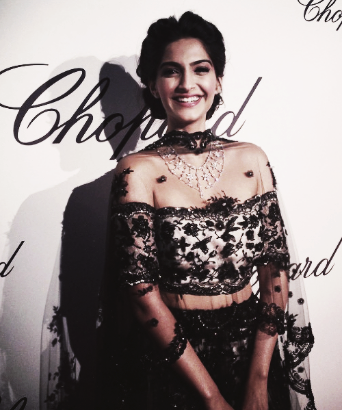 Sonam Kapoor at the L'Oreal Red Carpet at Cannes