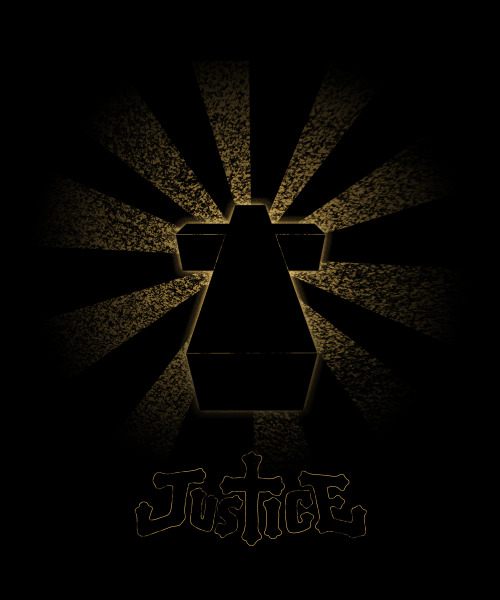 I noticed a disturbing lack of Justice T shirt designs, so with a little bit of help with 3ds max and photo shop I made my own. Just a slight variation on the Cross album art which should be at a high enough resolution to print. Since I don't own this logo or really even the initial design, I figured I shouldn't keep it to myself and let everyone on the internet enjoy, either it be in T shirt format or as a nice 16x20 print. Enjoy! Edit: Tumblr for some reason likes to add a lot of compression, so here's an imgur link that takes care of the problem: http://i.imgur.com/SprhLKd.jpg