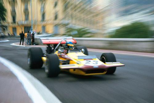 Ronnie and the March 701. 1970 Monaco Grand Prix.