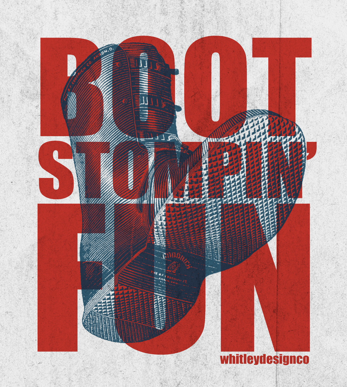 betype:  Boot Stompin' Fun | Whitley Design Co.