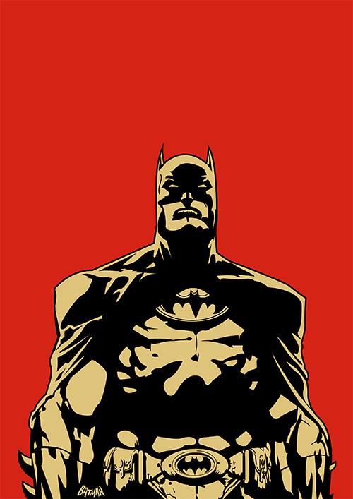 jake-gunn-design:  No. 3 In a poster series of heroes and villains. Batman.