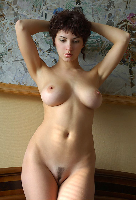 Nude girl towel drop
