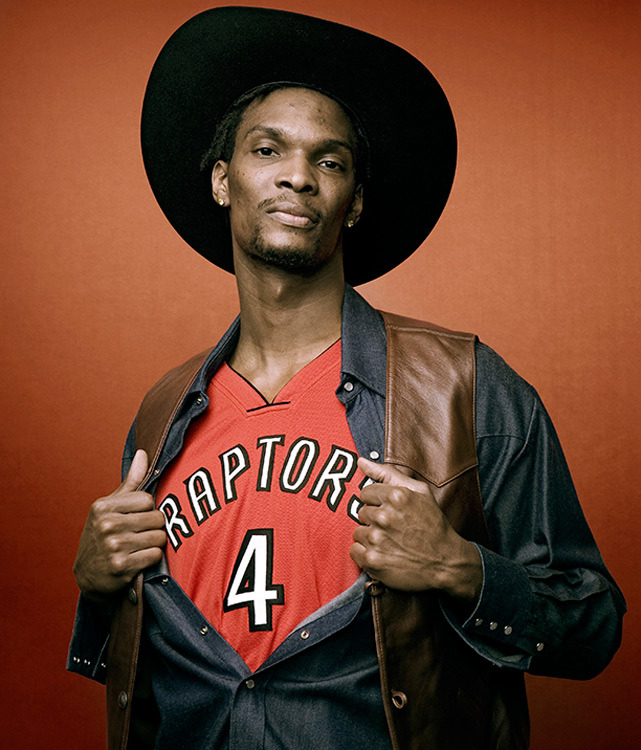 Chris Bosh lets out his inner cowboy during a 2008 SI photo shoot. (Peter Gregorie/SI) GALLERY: Rare Photos of Chris Bosh