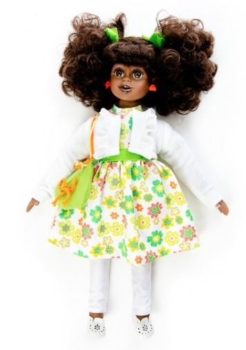 """KEZA GIRLby ROOTI DOLLS """"…Keza girl's parents are originally from Zimbabwe and Zambia who moved to the UK years before she was born. Keza loves shopping with her mum and helping her mum with house chores, dreams to be a famous fashion designer with loads of boutiques. Keza girl can speak and teach you any of Shona, Ndebele, Bemba, and Nyanja ethnic languages of Zimbabwe and Zambia.""""  y'all….Y'all!Y'ALL!Y'ALL!!!!! dolls that speak indigenous languages of Africa! Y'ALL!!! more of these dolls in the queue, click the doll name & company name above to get ordering info, etc. from the pics on the site of little girls holding these dolls, I'm guessing they're about 18"""" tall, but I don't see anything definitive so far…."""