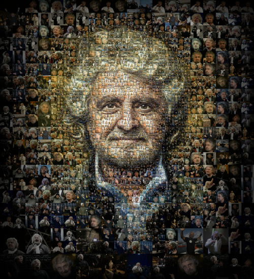 "Beppe Grillo for Panorama (Italian weekly) (by tsevis) Beppe Grillo is the hottest European politician today. His enemies are calling him names like clown, demagogue or even Mussolini while his followers are finding in him the person who inspires a real political movement of hope and change. As I am considering Italy something like a second homeland I am particularly interested in the subject and very happy when Panorama magazine asked me to create this cover.  I am not sure if I would follow or vote Grillo. But I am really happy that he is around and he's opening the real debates for Europe's and Italy's future.  You can see the cover on Panorama's website here. (Personally I don't agree with the article)  Best viewed large. Attention: Big file. (10240 x 11264 = 31.7"" x 25.5"" @ 300 ppi) Alternately you can zoom in to the high res (115 megapixels) file with Microsoft ZoomIt.  Made with custom developed scripts, hacks and lots of love, using my Mac, Synthetik Studio Artist, the Adobe Creative Suite and good music. All photos used for this portrait are provided by Panorama/Mondadori and might be copyrighted. Please don't use this for any commercial project. See all my Editorial Illustrations. Many thanks to Edoardo Frittoli @ Panorama magazine. The actual cover:  Some details:"