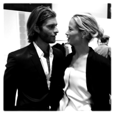 The cutest couple - Lincoln Pilcher and Carolyn Murphy!