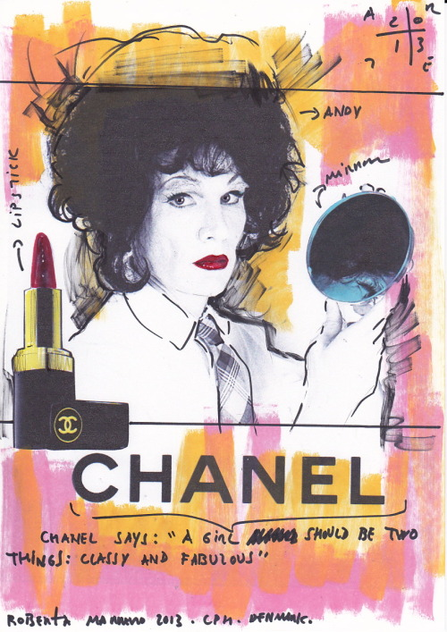 Warhol Chanel- Andy Coco by Roberta Marrero WWW.IAMGOD.EU