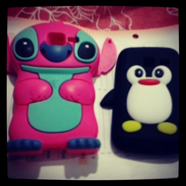 Novas paixoes *-* #new  #case #penguin #stich #gift  #boyfriend  #mother #happy