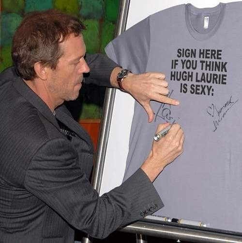 the-shania:  Hugh Laurie - always humble.